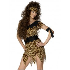 Cavewoman Costume, Black and Brown