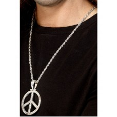 '60s Peace Sign Hippie Medallion
