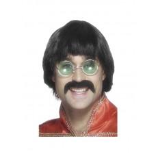 70's Mersey Wig & Tash