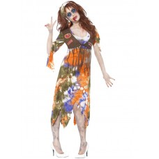 Zombie 60's Hippie Lady Costume